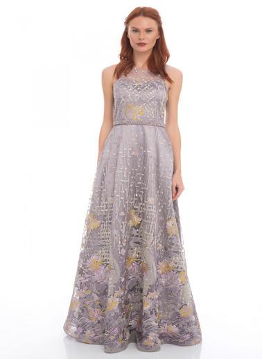 Pierre Cardin Uzun Abiye Elbise Lila